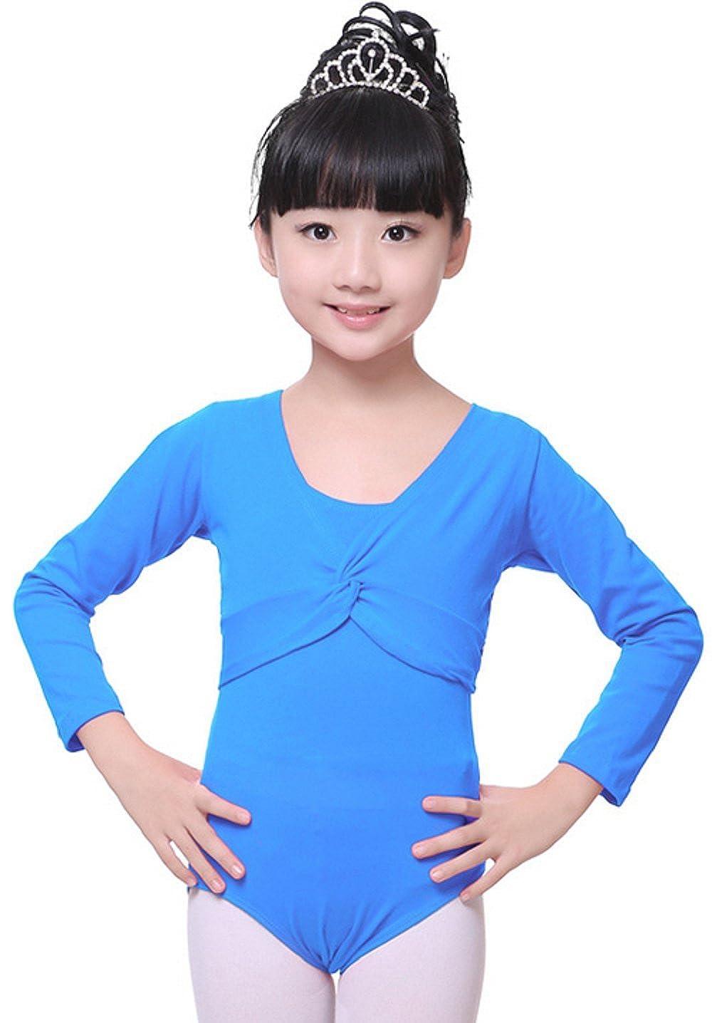 ALLBEST Robe de Danse sans Manches pour Filles One Piece Gym Justaucorps Ballet Dress (M, Rose-1)