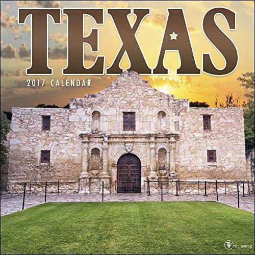 TF Publishing 171043 Wall Calendar 2017, Texas