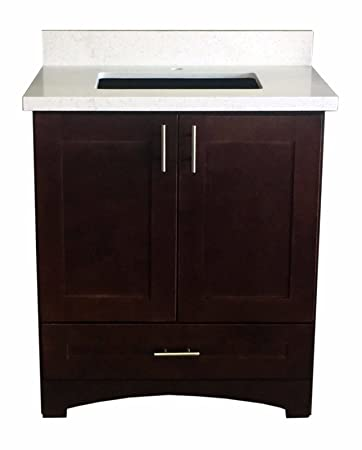 Delicieux Espresso Shaker Single Sink Bathroom Vanity Base Cabinet 30u0026quot; ...