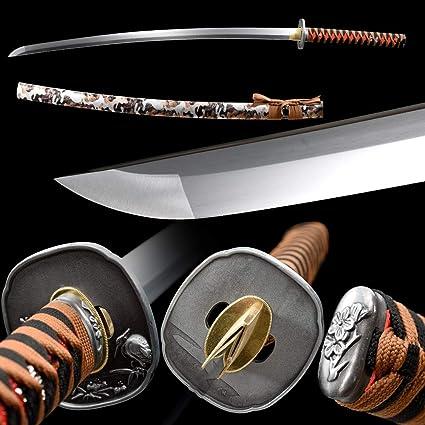 HIGH QUALITY 1060 CARBON STEEL KATANA SWORD SAMURAI FULL TANG SHARP