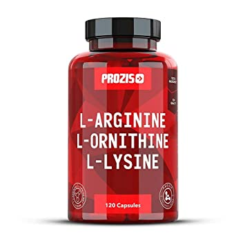 Prozis Pure L-Arginine L-Ornithine L-Lysine Supplement Capsules - Essential  Amino Acid Complex For Increase Cardiovascular Health, Weight Loss and