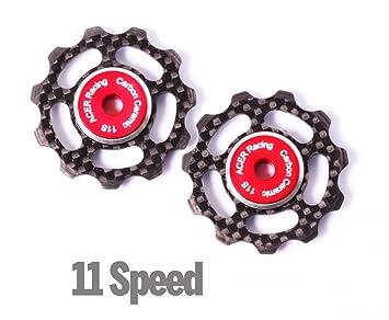 ACER Racing ruedas de fibra de carbono Jockey con rodamientos de cerámica para 11 Speed ??Derailleurs: Amazon.es: Coche y moto