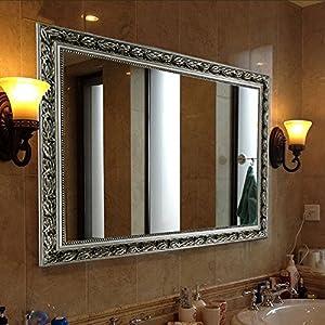 Rectangular wall mounted mirrors 32 x24 - Silver bathroom mirror rectangular ...