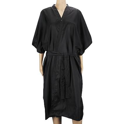Bata de masaje Black Spa, vestido de kimono Segbeauty Mangas medias universales Ropa para clientes