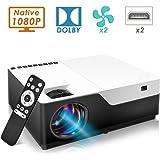 جهاز عرض فيديو عالي الدقة بحجم 200 بوصة 1920x1080 1080 بكسل مع HDMI USB للجيم سينما المنزل
