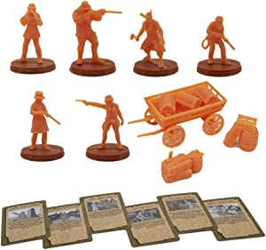 Outland Tactics War Games Miniatures West Cowboy Figure Set w Cards 28mm Scale