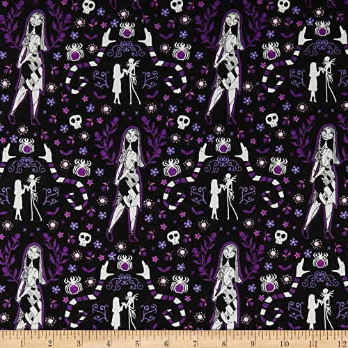 Camelot Fabrics Jack is Back Sally in Fabric, Black, Fabric By The Yard