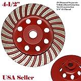 MTP 4.5'' 5/8-11 Thread Diamond Grinding CUP Wheel Disc Grinder Granite Concrete 28 Segmentsanite Stone For Angle Grinder Turbo Wet or Dry