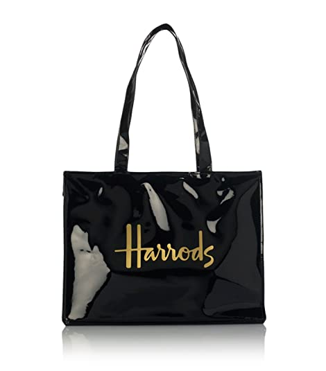 harrods Signature Logo Tote Bag - Shoulder bag - Borsa da spalla nera in  PVC con 535b34ef915