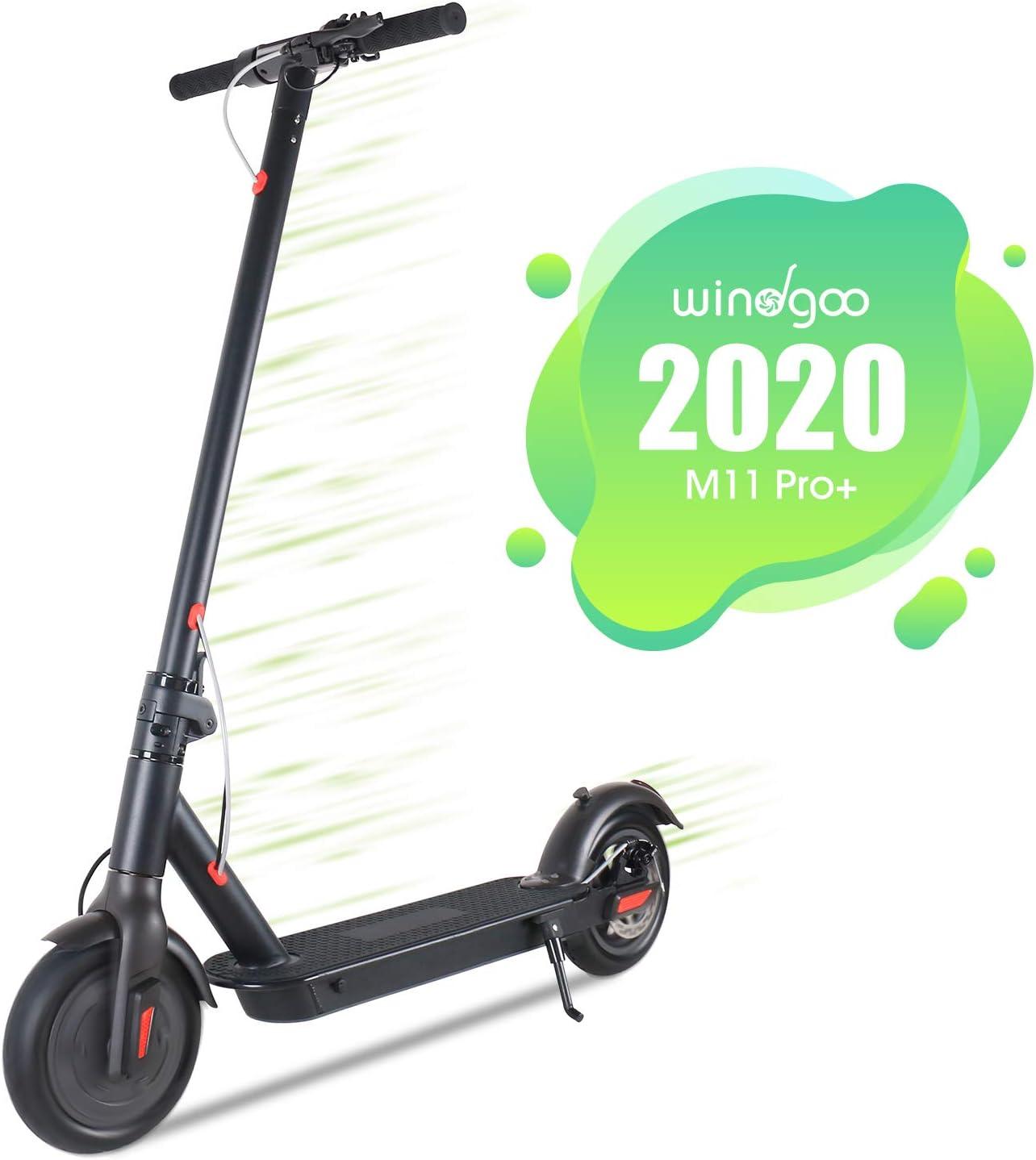 Windgoo Patinete Eléctrico Plegable E Scooter, hasta 25 km/h, Batería de Largo Alcance de 20-22km 36V 6AH, Neumático de 8.5 Pulgadas (Gris Oscuro Mate)