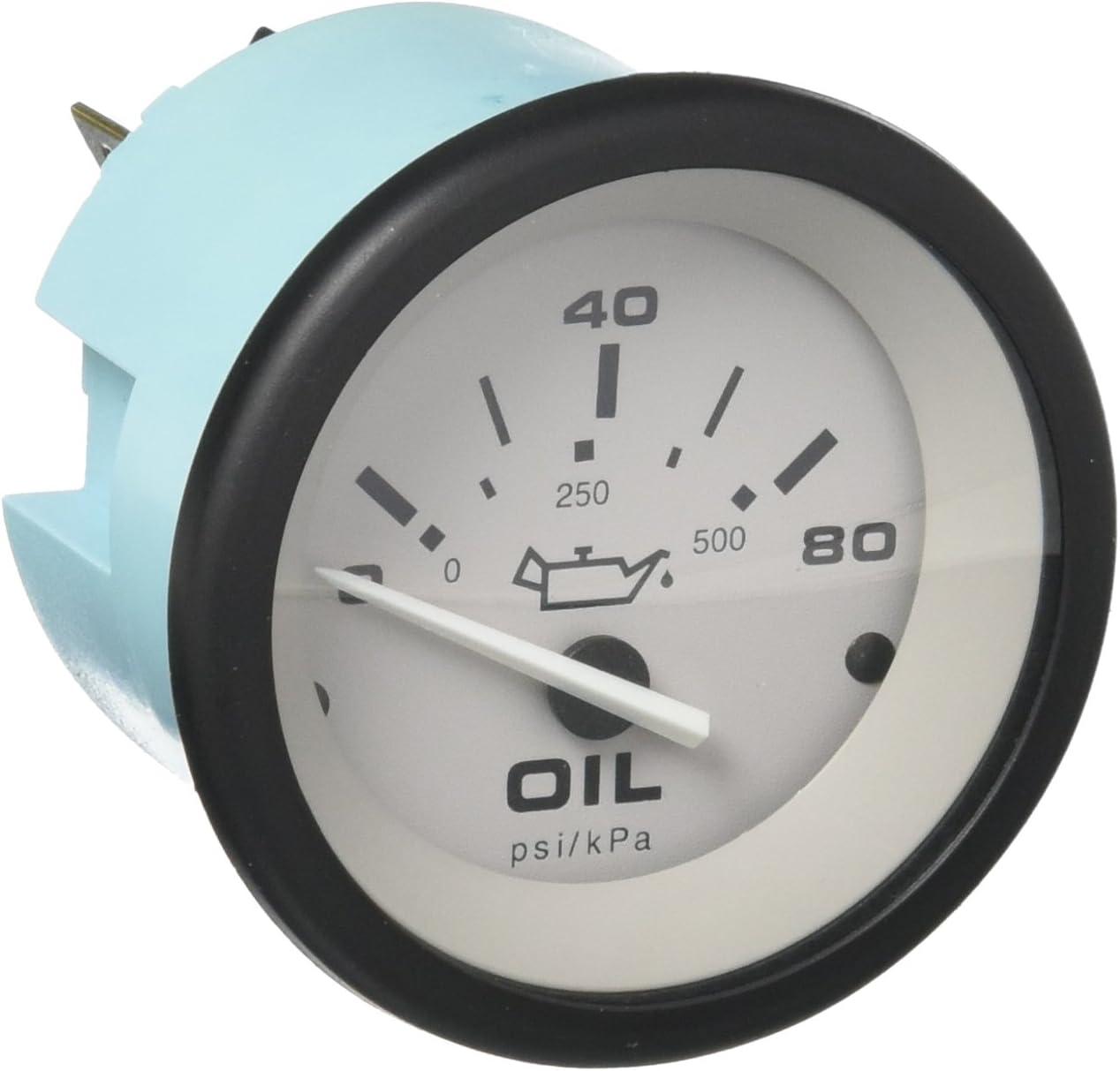 2 Sierra International 61550P Driftwood 0 to 80 Psi Dial Range Scratch Resistant Electric Oil Pressure Gauge