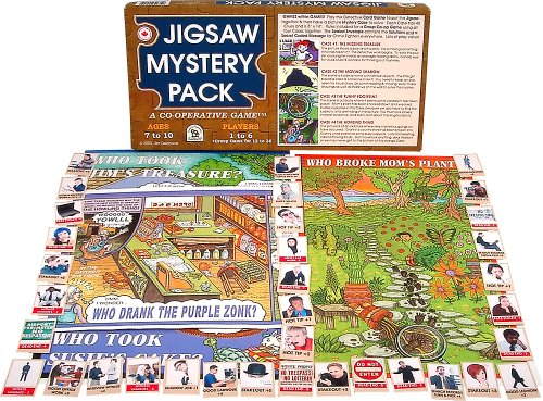 Family Pastimes Jigsaw Mystery Pack - A 4-in-1 Co-operative (4in 1 Fun Pack)