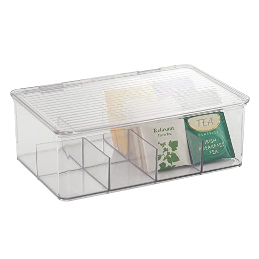 Amazing Amazon.com: InterDesign Binz Tea Bag Organizer Box   Kitchen Cabinet  Storage, Clear: Home U0026 Kitchen