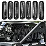 jeep wrangler grill cover - DEDC Jeep Grille Jeep Wrangler Mesh Grill Insert Jeep Grille Guard Front jk Grille Inserts for 2007-2016
