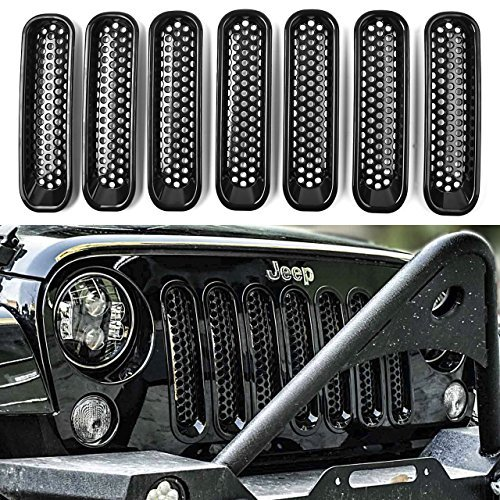 DEDC Jeep Grille Jeep Wrangler Mesh Grill Insert Jeep Grille Guard Front jk Grille Inserts For 2007-2016