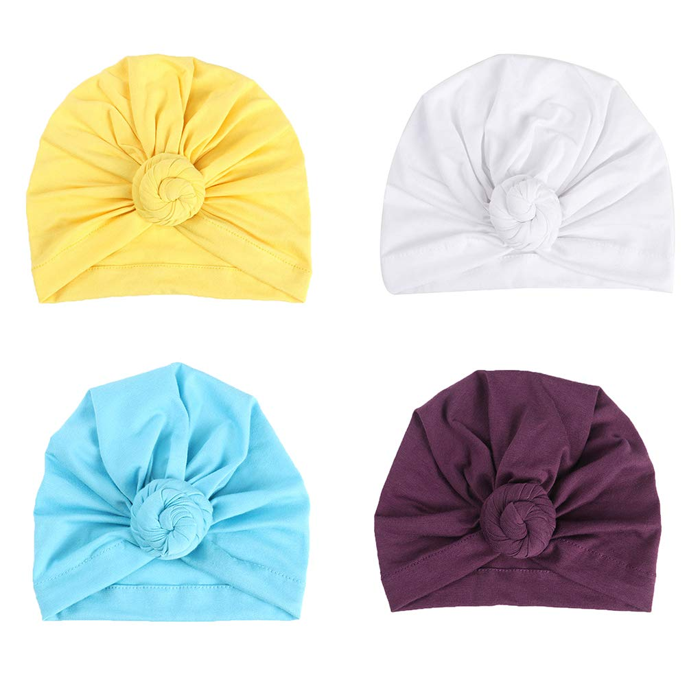 Miaomiaogo Baby Cotton Cloth Turban Toddler Hat Hospital Hat Kids Children Head Cap Knot Solid Headwear Wrap