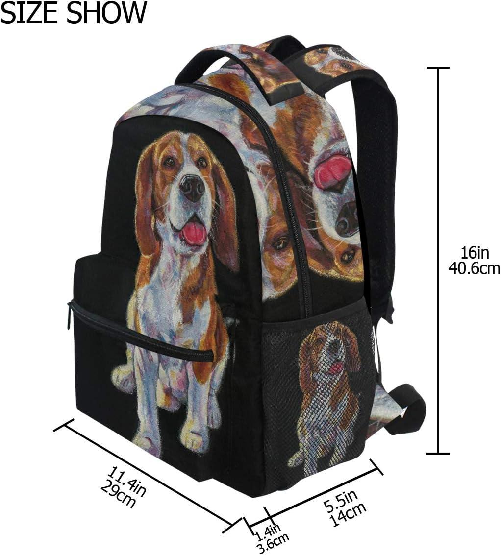 Lmuchen Backpack Watercolor Beagle Dog Bookbag Laptop Backpack Shoulder Resistant Students Adult Laptop Travel Hiking