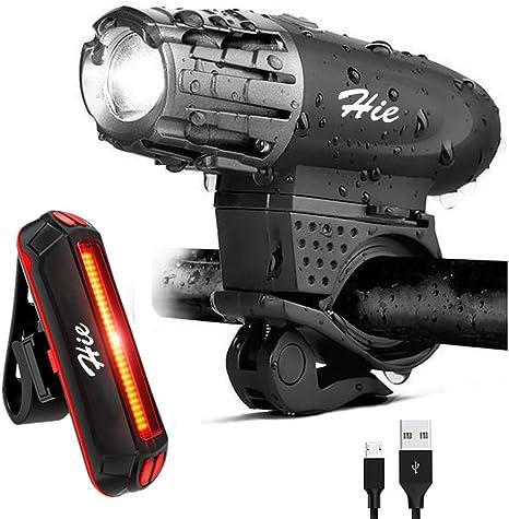 Luces para Bicicletas Recargables LED - 400 Lúmenes USB Luz ...
