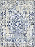 A2Z Rug Modern and Traditional Inspired Overdyed Design Rugs – Ivory 9′ x 12′-Feet – santorini Collection Area rug – Contemporary Living Dinning & Bedroom Floor Carpet Review