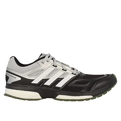 Adidas Response Boost Running Shoes Running Shoe Black Silver Techfit Mens