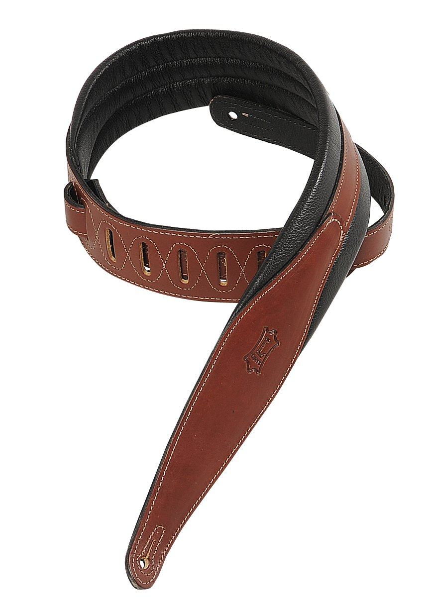 Levys Leathers MSS100-CRA Carving Leather Guitar Strap,Cranberry