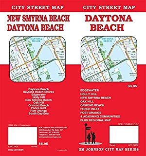 Ormond Beach Zip Code Map.Daytona Beach Florida Street Map Universal Map 9780762585649