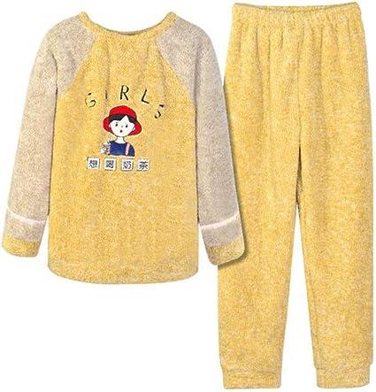GJ Pijamas Pijamas de Las señoras catiónico Terciopelo Pijama ...