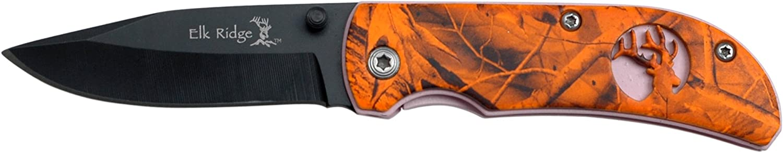 Elk Ridge Navaja Hunter Rosa Naranja camuflaje de Mango, Longitud 7,62, Cerrado cm: 7,62, Longitud elkr -1058 dc29a2