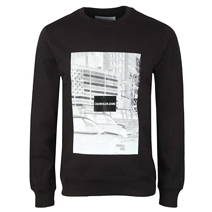 Calvin Klein - Sudadera - para Hombre Negro M: Amazon.es: Ropa y accesorios