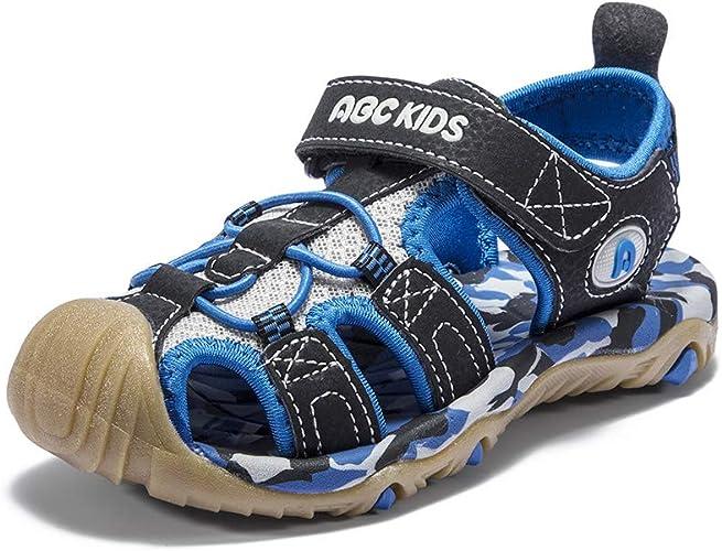 Kids Boys Leather Open Toe Beach Sports Sandals Sneakers Walking Summer Shoes