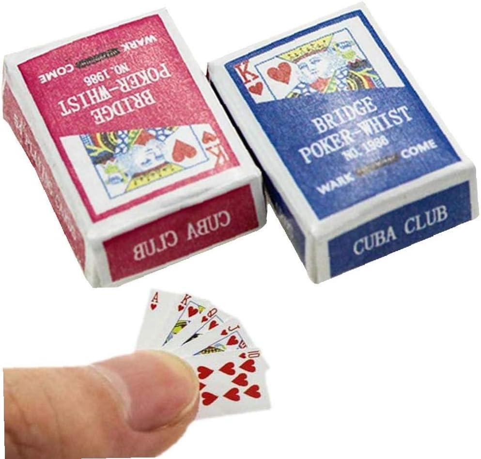 Amazon.es: 1 Juego Mini Naipes Juegos De Papel Poker Naipes 1/12 Miniatura De Muñecas De Juguete Decoración Del Dollhouse Accesorios Juguete De La Diversión Para Los Niños: Juguetes y juegos