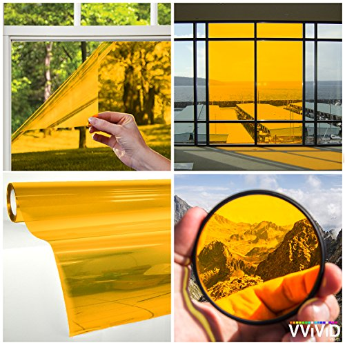 VViViD Transparent Colorful Vinyl Window Tinting Sheets (1.49ft x 5ft, Yellow) ()