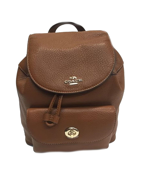Coach para mujer Mini Turnlock para mochila, Marrón (Marrón ...