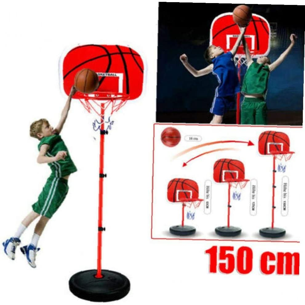 Naisicatar 1 Satz Kinder Tragbare Basketballkorb St/änder H/öhenverstellbarer Fu/ß Basketball Set F/ür Indoor Outdoor
