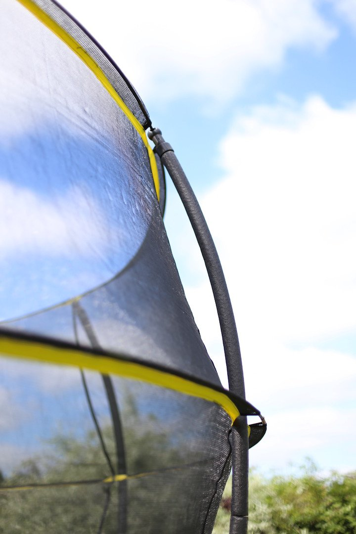 Rebo 14FT Base Jump Trampoline with Halo ll Enclosure Black