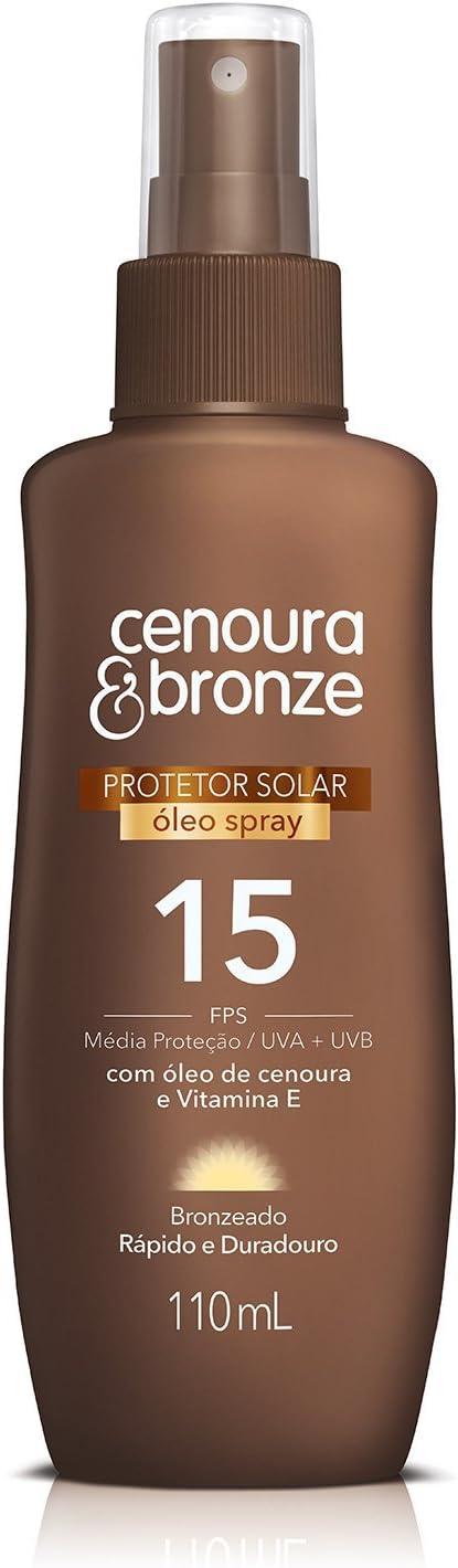 Óleo Protetor Solar Spray Fps15, Cenoura e Bronze