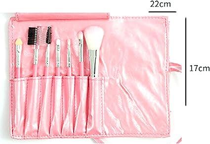 Pinceles de maquillaje 7PCS Switty Premium Set profesionales portátiles Fundación de sombras para ojos Herramientas de brocha de maquillaje con estuche (rosa): Amazon.es: Belleza