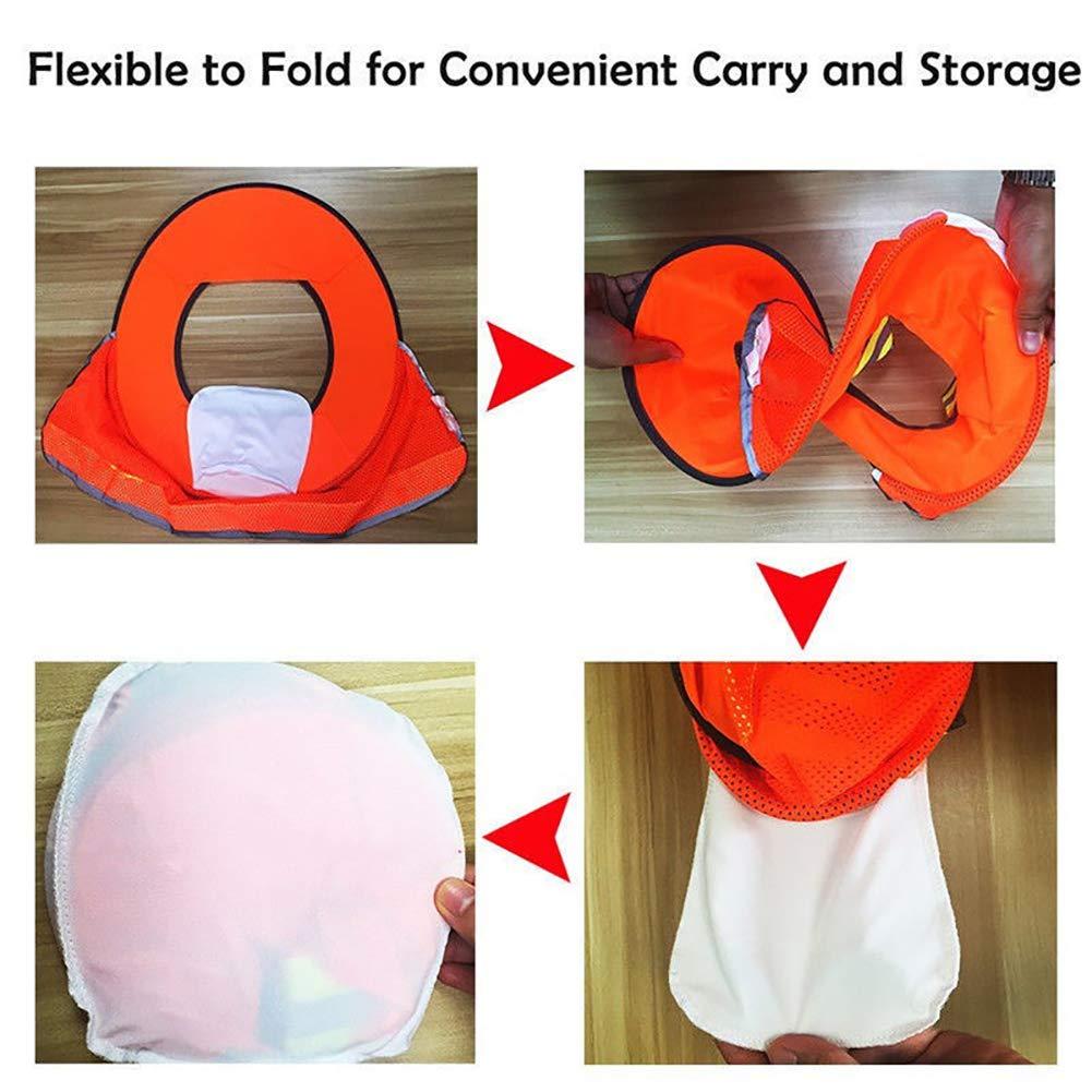 Homeofying Construction Safety Sun Shade Reflective Stripe Hard Hat Neck Shield Helmet neck protector for construction Orange