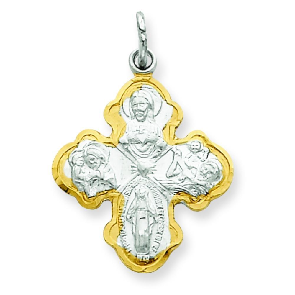 Sterling Silver /& Vermeil Cross Medal