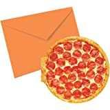iscream Snack Shack Pack of 8 Pizza Shaped and Scented Notecards with Envelopes