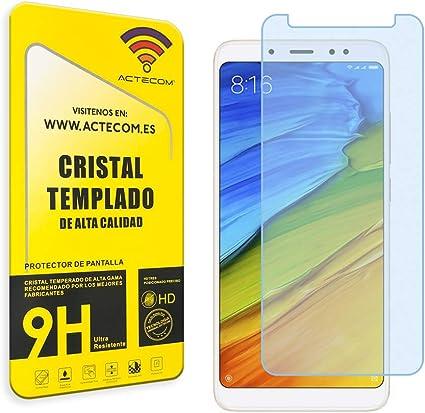 actecom® Protector Pantalla para XIAOMI REDMI Note 5 Cristal Vidrio Templado: Amazon.es: Electrónica