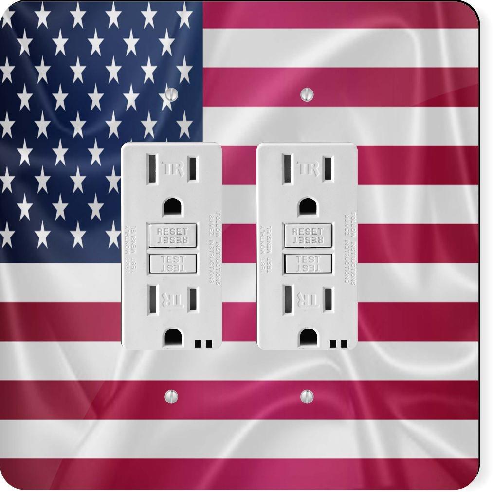 Rikki Knight 2675 Gfidouble United States of America Usa Flag Design Light Switch Plate