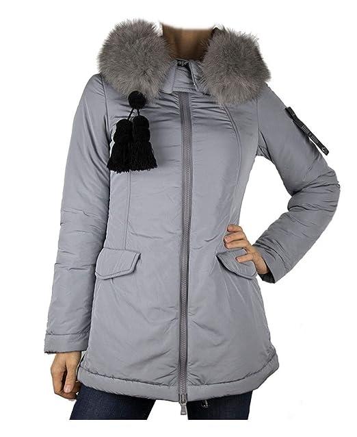 comprare popolare e635d 15f6c Peuterey Piumino Donna noshi fr Fur ped2931 743 Grey Cemento ...