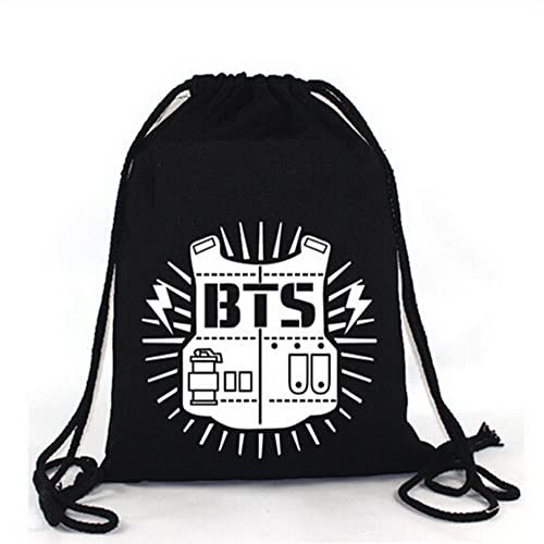 Rainlemon KPOP BTS Bangtan Boy Backpack BTS Casual Shoulder Bag String Bag