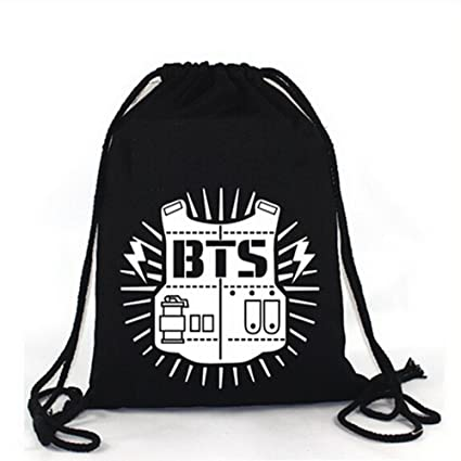 Amazon.com  Elfun(TM) KPOP BTS Bangtan Boy Backpack BTS Casual Shoulder Bag  String Bag  Ewish