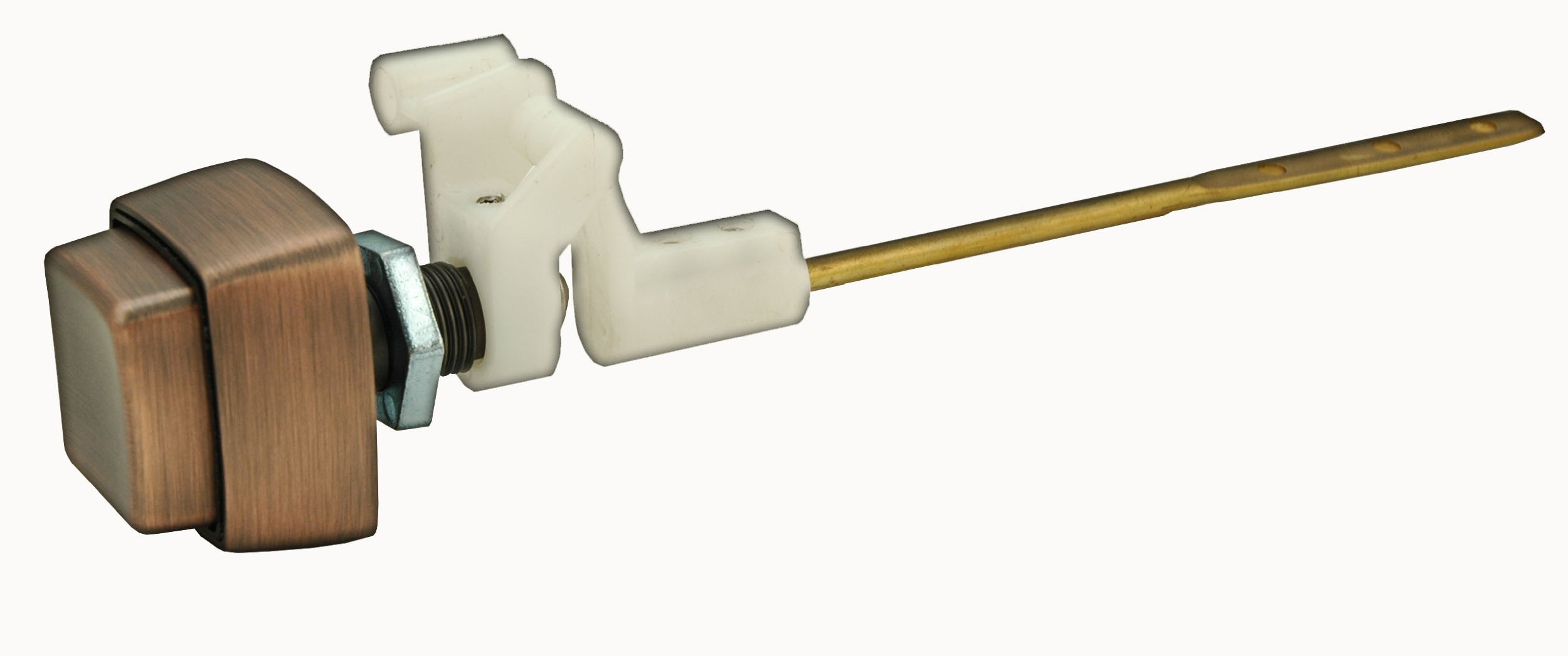 Toilet Tank Lever, Push-button Type, Antique Copper Finish, By Plumb USA