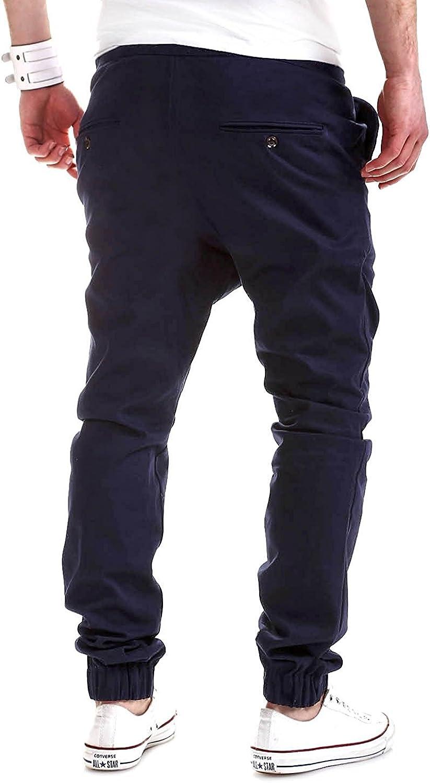 Minetom Casuales Flojo Pantalones Largos Para Hombre Cordón Jogger ...