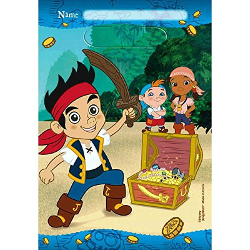 [American Greetings Jake and the Never Land Pirates Treat Bags (8-Pack), Party Supplies] (Costume Land)