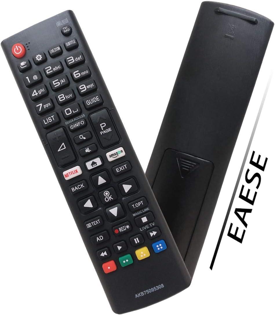 EAESE Nuovo AKB75095308 Telecomando di Ricambio per LG Ultra HD TV 32LJ610V 49UJ634V 65UJ634V 49UJ6309 65UJ6309 55UJ6307 55UJ630V 43UJ634V 55UJ634V 43UJ6309 60UJ6309 43LJ614V 60UJ6307 49UJ630V