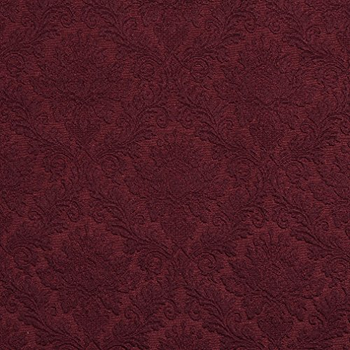 Brocade Upholstery - Wine Burgundy Dark Red Heirloom Vintage Cameo Brocade Upholstery Fabric by the yard